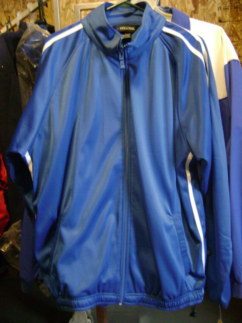 Holloway Tricot Warm Ups $15.00 Xlarge Royal Inner shell fleece Outer Ticot line