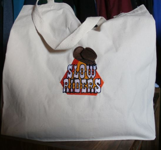 Slow Riders Tote for groceries or sleep overs Manchester Shortsville NY Country
